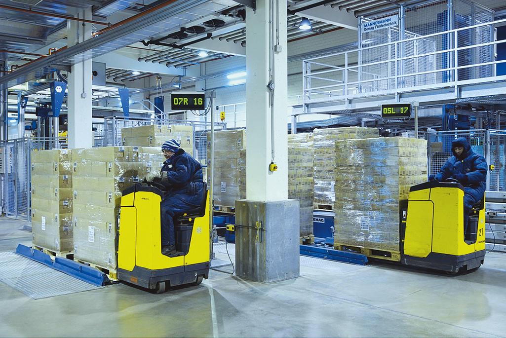 O varejo e a armazenagem de produtos alimentícios resfriados e congelados
