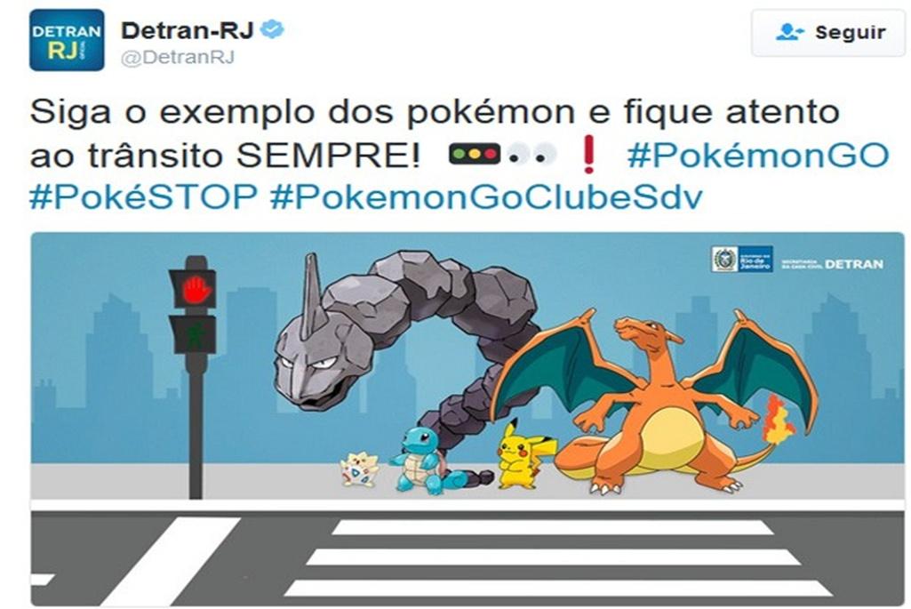 Detran.SP alerta motoristas e pedestres sobre os cuidados com a captura de pokémons.